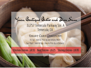Yuan Boutique Bistro and Dim Sum