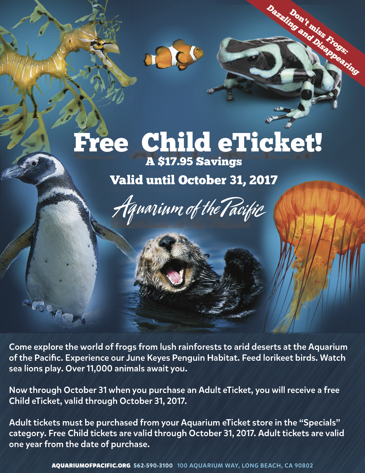 aquarium of the pacific buy one get one free 2017